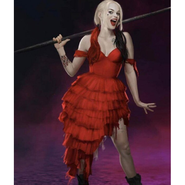 The Suicide Squad Harley Quinn Red Dress