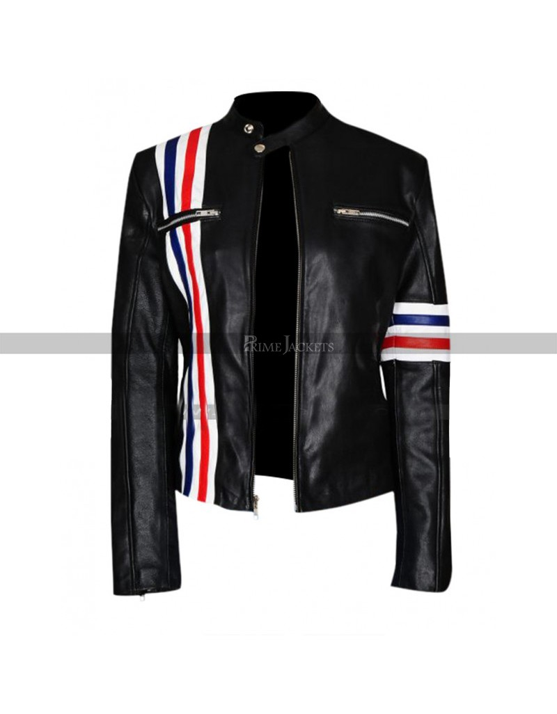 Eliza Coupe Future Man Tiger Black Biker Jacket