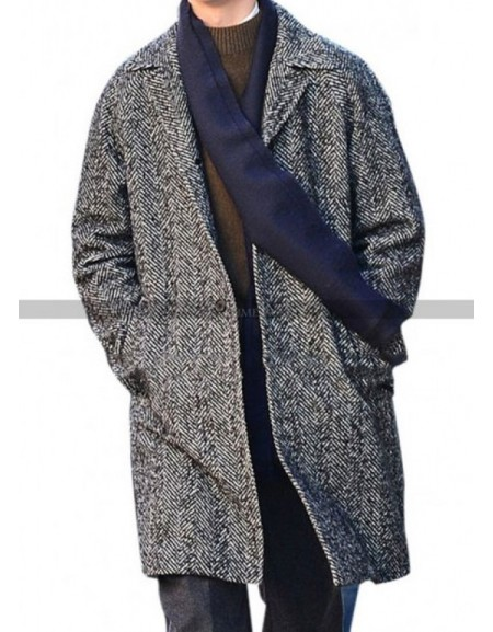 Ansel Elgort The Goldfinch Grey Trench Coat