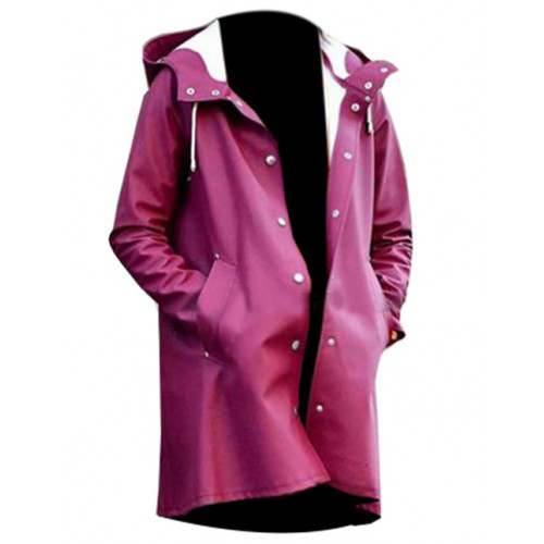 A Rainy Day In New York Selena Gomez Burgundy Coat