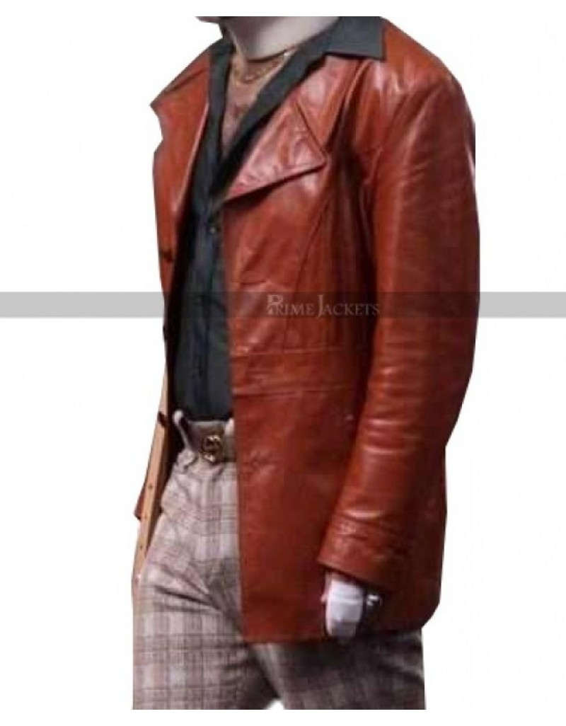 Brian Fantana Anchorman 2 Paul Rudd Leather Jacket Coat