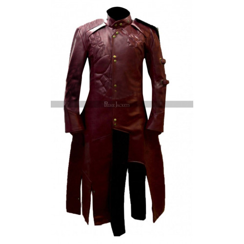 Starlord 2015 Cosplay Costume Faux Trench Maroon Coat