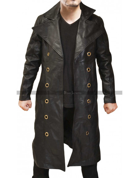 Deus Ex Mankind Divided Game Adam Jensen Leather Coat