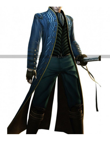 Vergil Devil May Cry DMC 3 Cosplay Coat