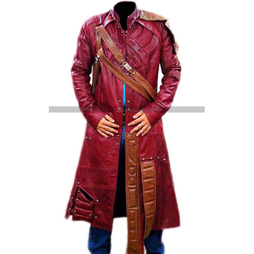Star Lord Galaxy 2 Red Trench Coat