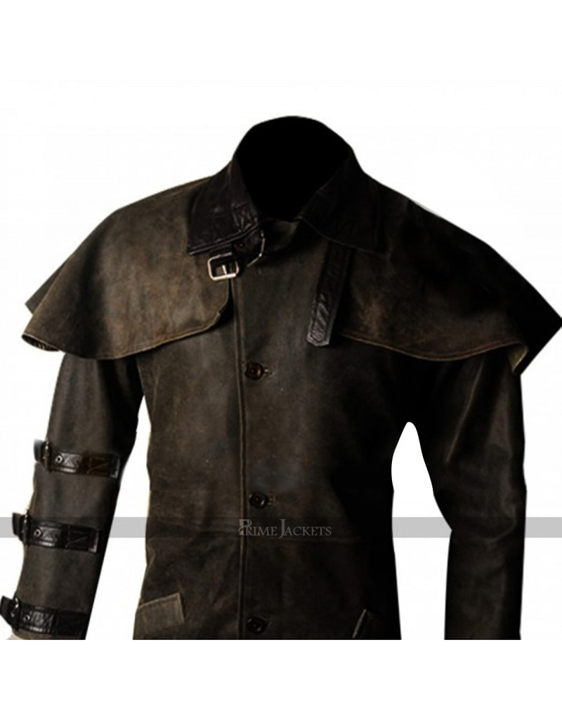 Ron Perlman Hellboy Trench Leather Coat Costume