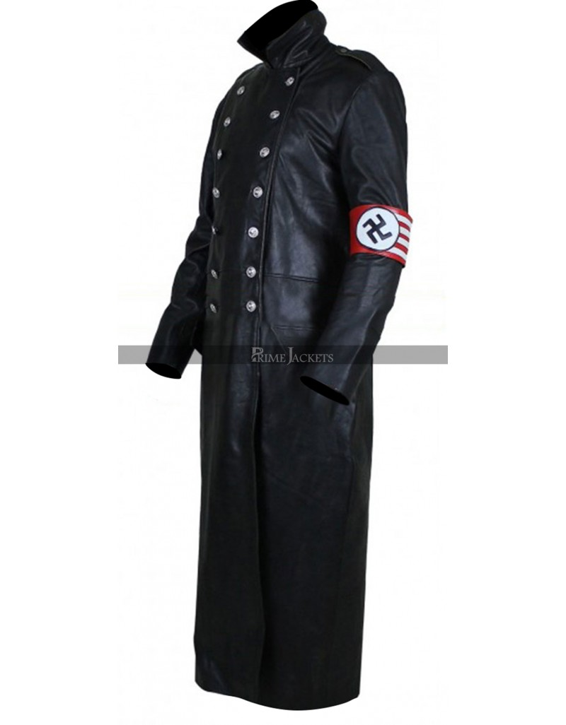 The Man in the High Castle Nazi Officer Black Leather Coat