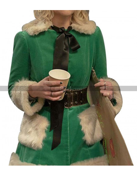 Last Christmas Kate Green Fur Coat