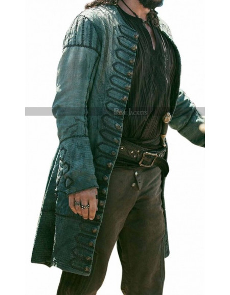 John Silver Black Sails S3 Leather Coat