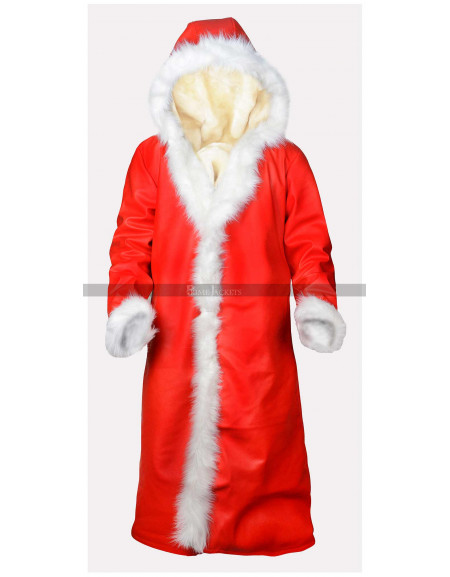 Christmas Chronicles Kurt Russell Shearling Trench Coat