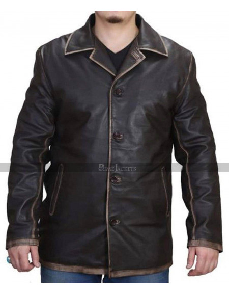 Dean Winchester Supernatural Brown Distressed Trench Coat