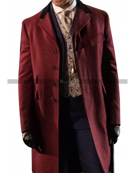 The Greatest Showman Hugh Jackman Wool Coat