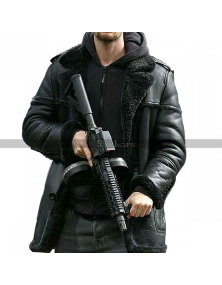 Ben Barnes The Punisher Shearling Coat