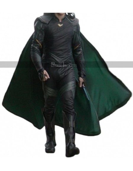 Thor Ragnarok Tom Hiddleston Loki Cosplay Leather Coat Costume