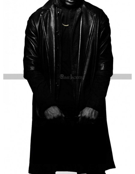 SuperFly Trevor Jackson (Youngblood Priest) Black Leather Coat