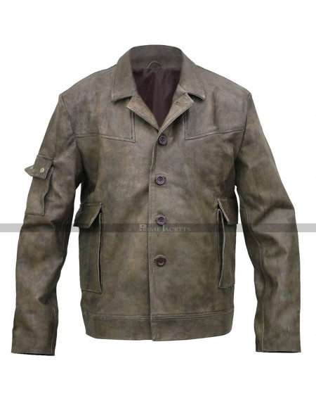 Underworld Evolution Michael Corvin Brown Distressed Jacket Coat