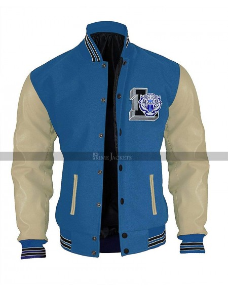 Justin Foley 13 Reasons Why Baseball Varsity Letterman Jacket