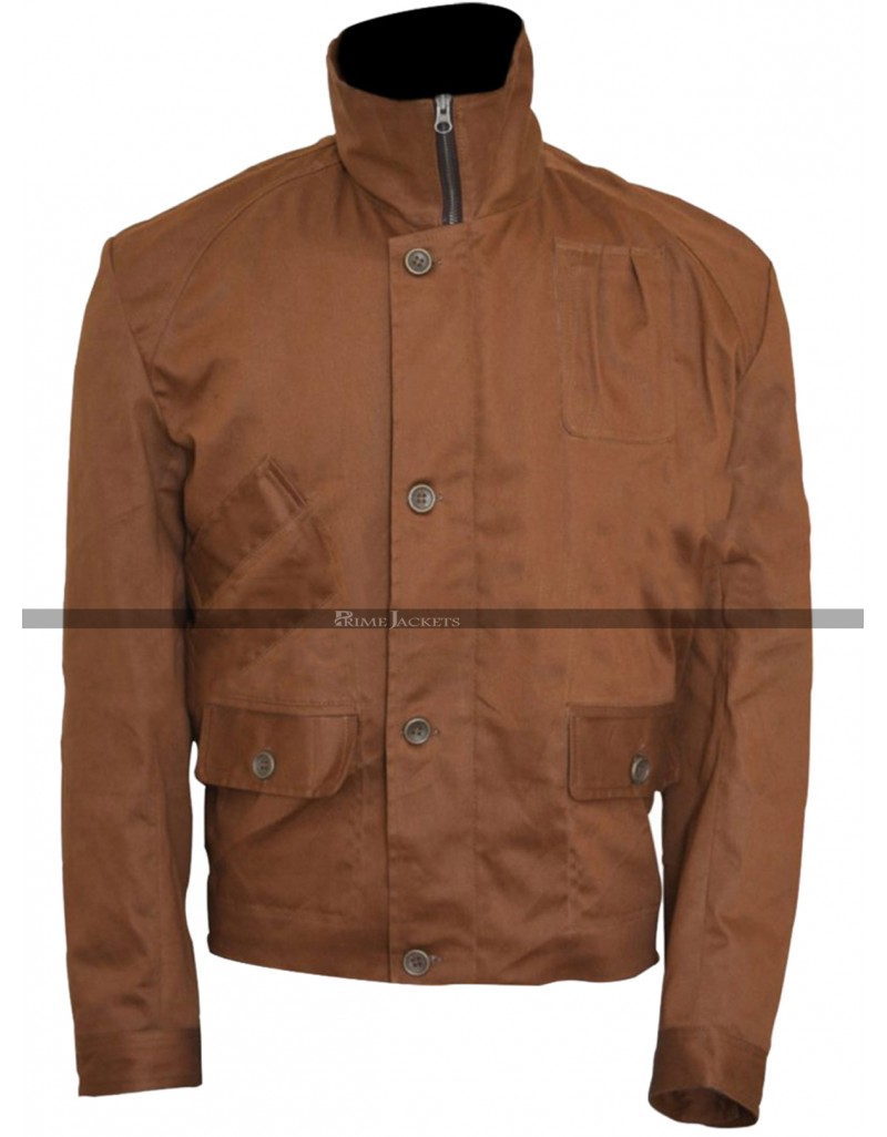 Oliver Queen (Stephen Amell) Arrow Brown Cotton Jacket
