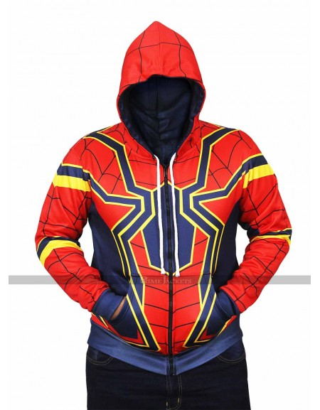 Spider-Man Avengers Infinity War Iron Spider Hoodie Jacket
