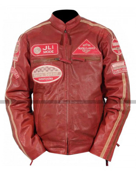 Aviatrix Mens Boys JLI Mode Real Leather Bikers Jacket