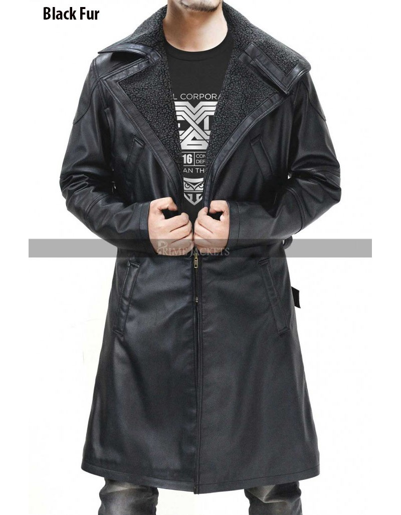 Ryan Gosling Blade Runner 2049 Officer K Fur Leather Coat
