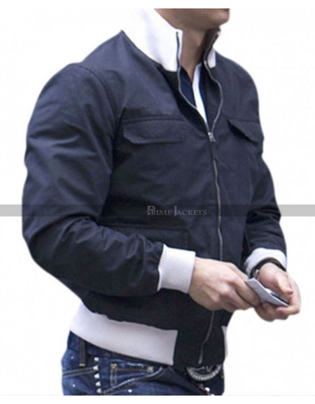 Football Player Cristiano Ronaldo Black Bomber Jacket