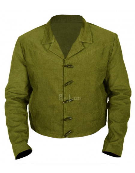 Django Unchained Jamie Foxx Green Jacket Coat