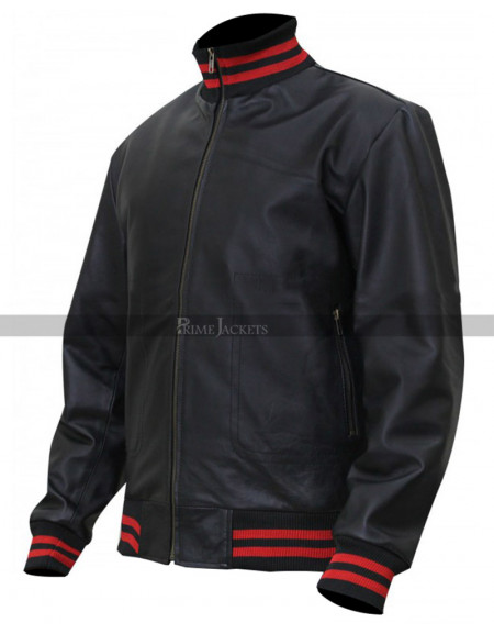 Eminem Not Afraid Song Bomber Leather  Jacket