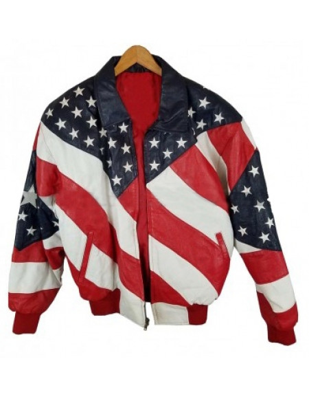 American Flag Leather Jacket