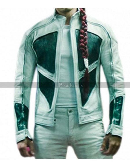 Deadpool 2 Lewis Tan Shatterstar Leather Jacket