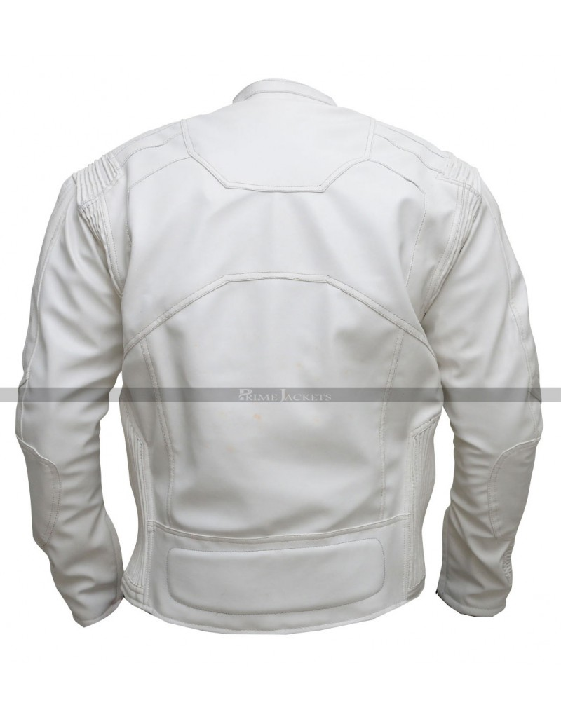 Oblivion Tom Cruise (Jack Harper) White Motorcycle Jacket