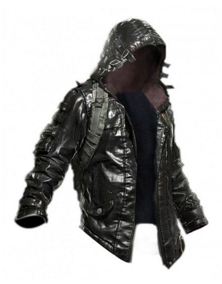 Pubg Playerunknown's Battlegrounds Black Leather Jacket