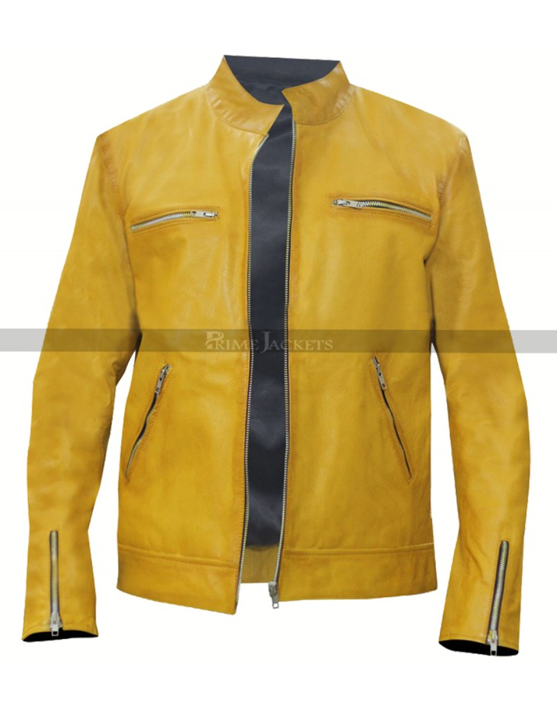 Dirk Gently (Samuel Barnett) Detective Yellow Leather Jacket