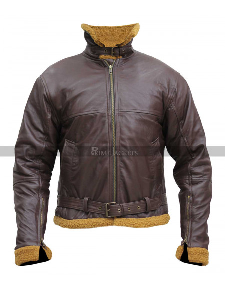 Sheepskin B3 Mens Shearling Bomber Leather Jacket