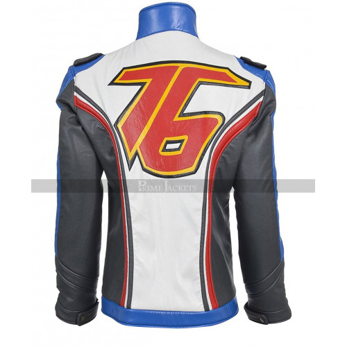Overwatch Soldier 76 Motorcycle Leather Jacket