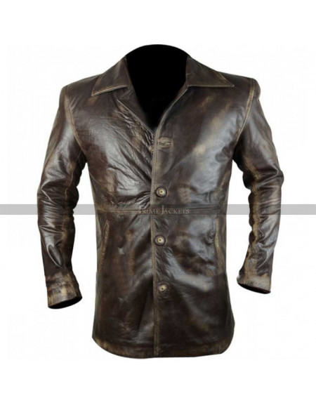 Supernatural Dean Winchester Distressed Leather Lacket/Coat