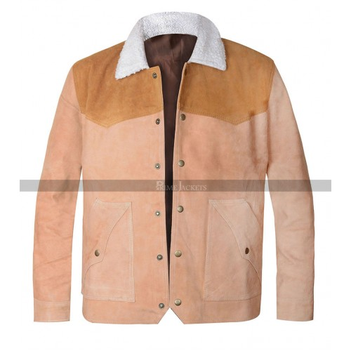 Yellowstone Kevin Costner Suede Leather Jacket