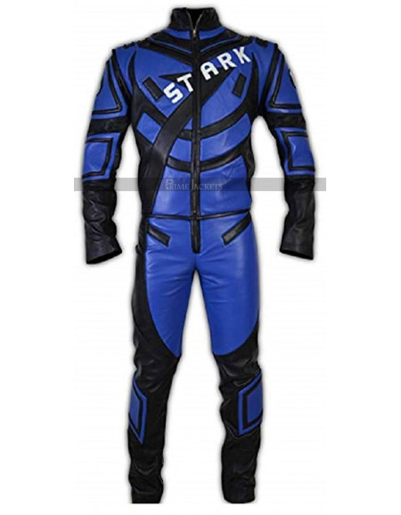 Tony Stark Iron Man Racing Leather Jacket