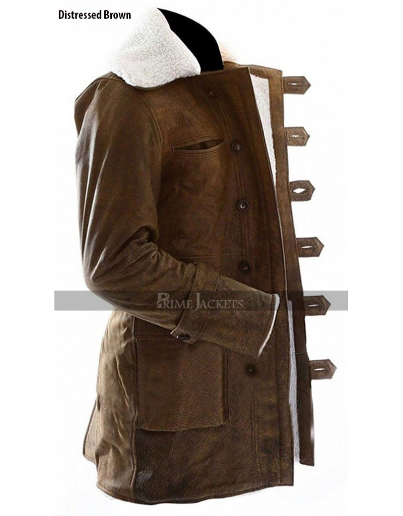 The Dark Knight Rises Bane (Tom Hardy) Distressed Light Brown Coat