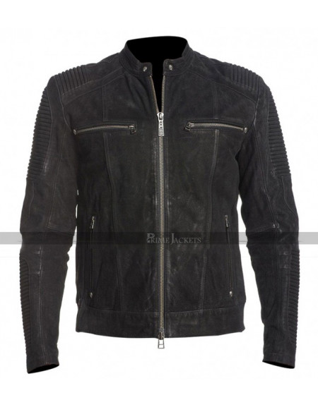 Vintage Cafe Racer Fury Biker Quilted Jacket
