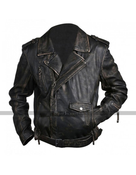 Cafe Racer Classic Brando Biker Black Leather Jacket