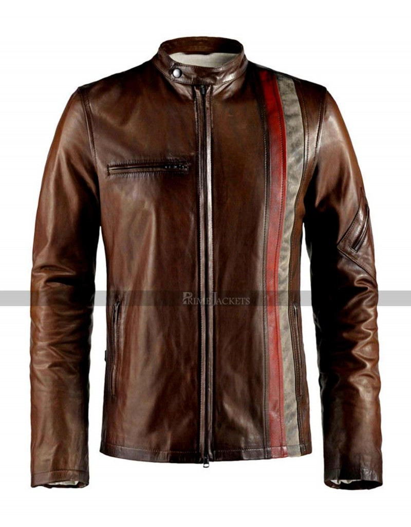 Scott Cyclops X-Men Biker Black And Brown Jacket