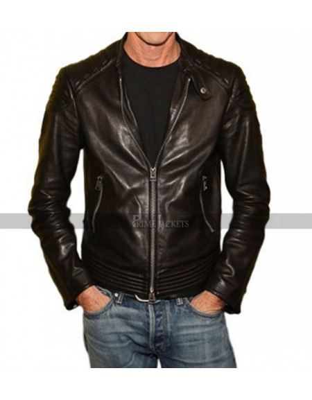 A Quiet Place Premiere Michael Bay Biker Jacket