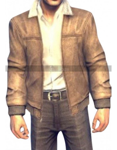 Vito Scaletta Mafia 2 Game Bomber Brown Leather Jacket