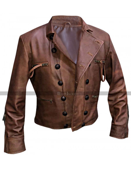 Justice League Aquaman (Jason Momoa) Distressed Brown Leather Jacket