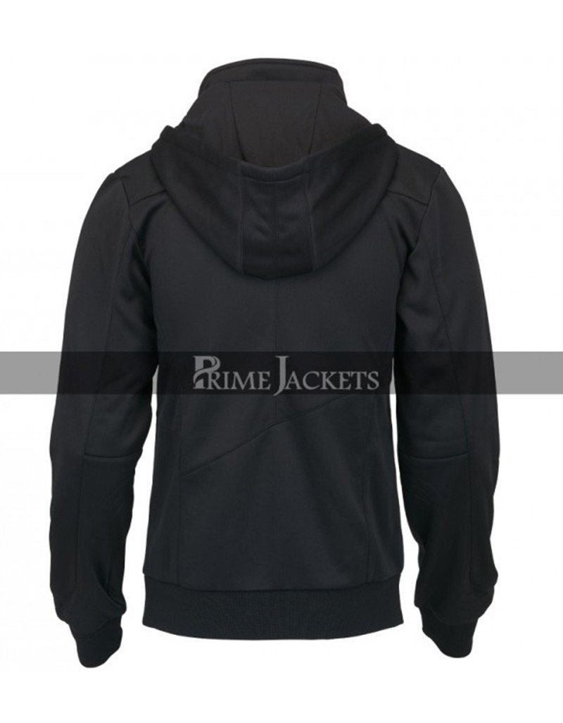 Assassin's Creed Callum Lynch Black Leather Hoodie Jacket