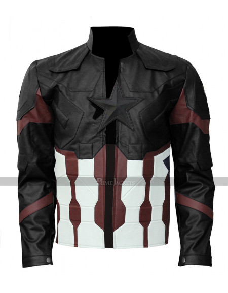 Avengers Infinity War 2018 Steve Rogers Leather Jacket
