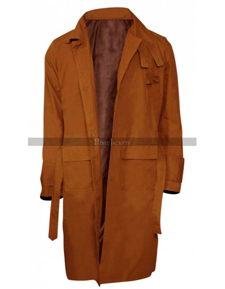 Rick Deckard Harrison Blade Runner Ford Replicant Hunter Cotton Trench Coat