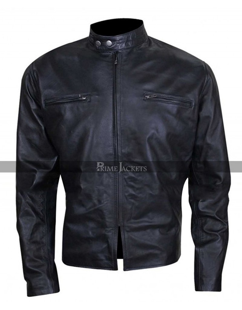 Burnt Bradley Cooper (Adam Jones) Black Leather Jacket