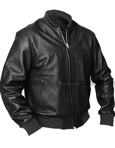 Liberty Black Bomber Leather Jacket
